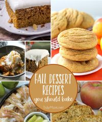 Fall is just around the corner! Crisp cool air, PSLs, bon fires and sweater weather. Crank up the oven.......your house is about to smell amazing!! Time to bring on all the Fall Dessert Recipes! details at TidyMom.net