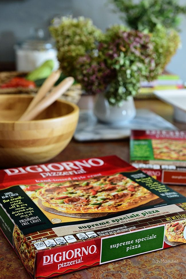 Fall Entertaining with DiGiorno pizzeria! pizza photo
