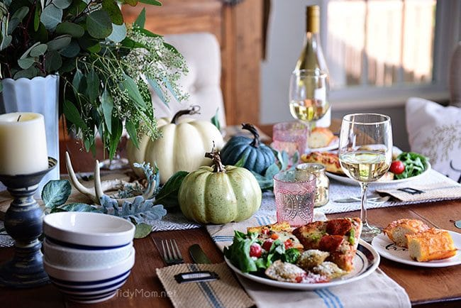 Fall Entertaining. Simple and Elegant Table image