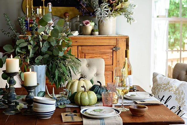 Fall Entertaining tablescape photo