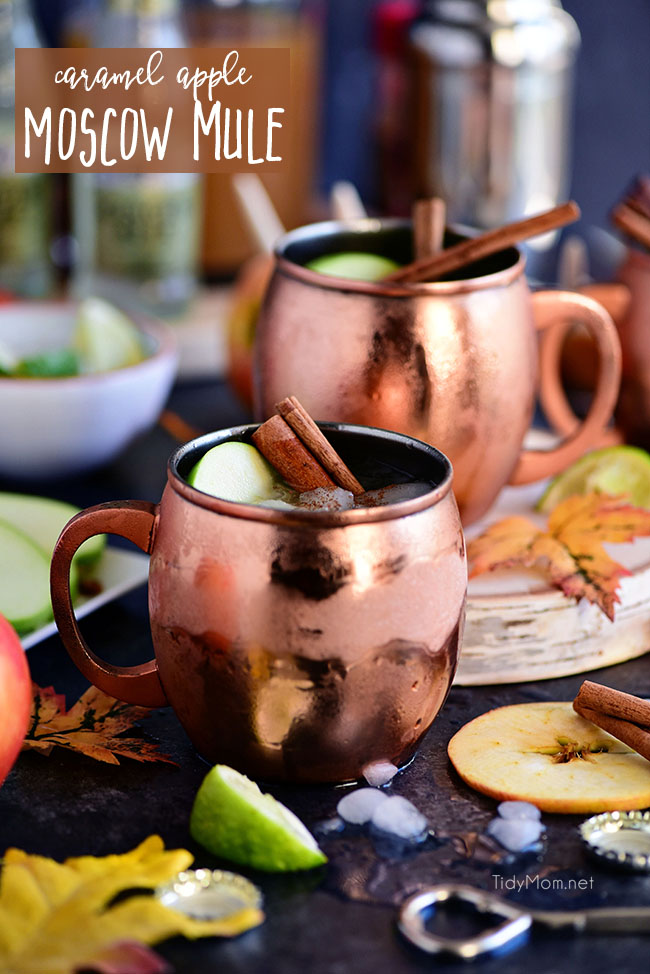 Caramel Apple Moscow Mule Fall Cocktail Tidymom