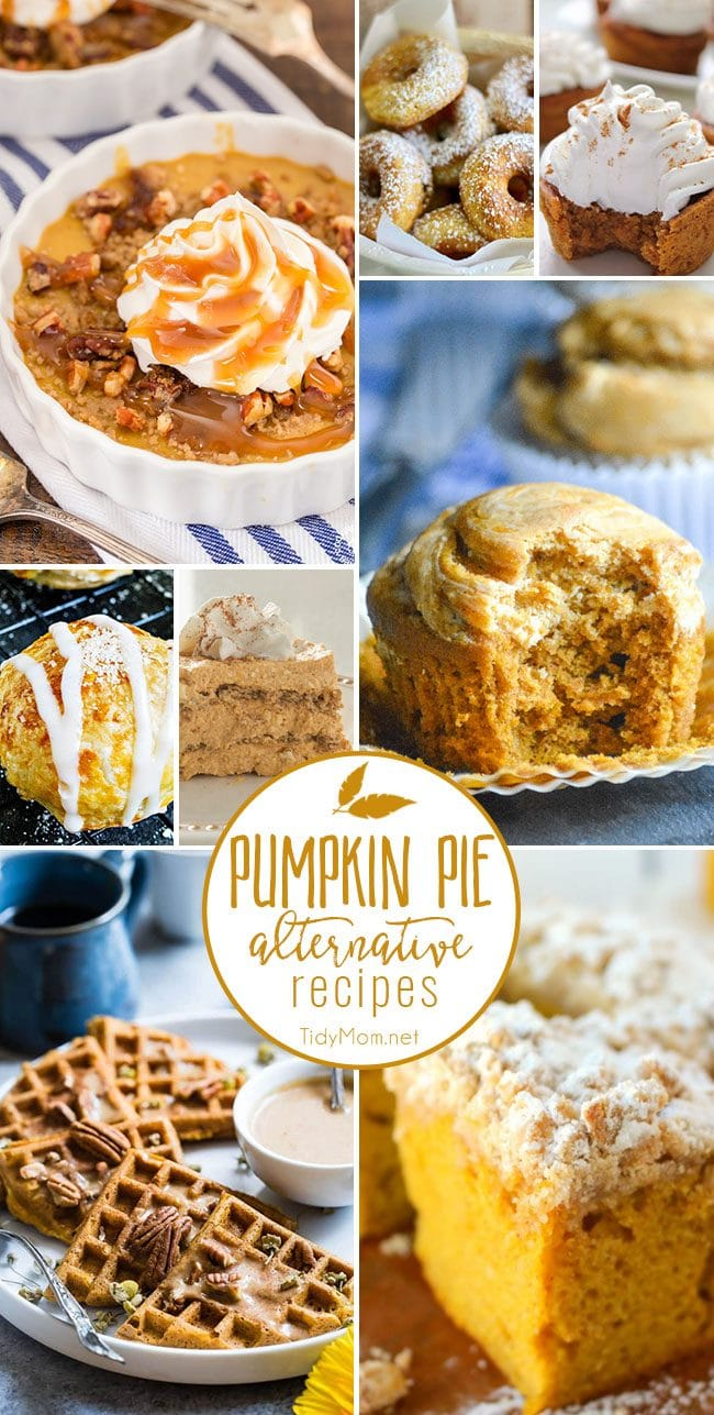 Fall is calling your name with these Pumpkin Pie Alternative Recipes! Dare I say they might even be better than pumpkin pie and you don't need to make a crust!  Grab a fork and dig in at TidyMom.net