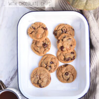 Pumpkin Spice Cookies with Chocolate Chips