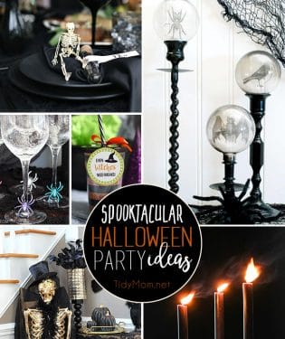 Spooktacular Halloween Party Ideas that are easier to make than you might think!! Get all the hauntingly easy details at TidyMom.net