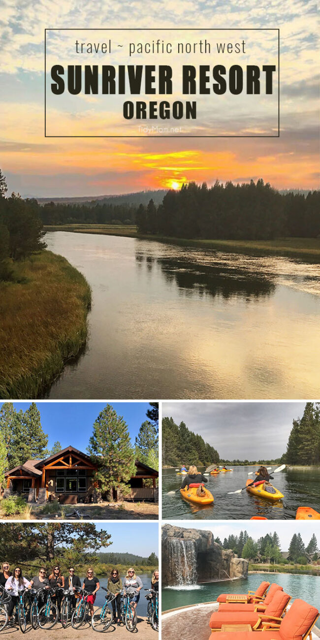 Sunriver Resort in Central Oregon should be on your travel bucket list! It's the ideal location for family vacations, retreats or corporate events with unlimited recreational activities. Be prepared to fall in love! Details at TidyMom.net