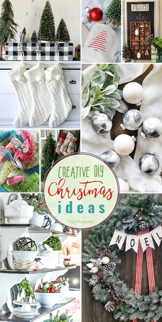 Creative DIY Christmas Ideas for your home at TidyMom.net