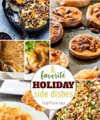 Favorite Holiday Side Dishes. From stuffing and red wine cranberry sauce to mashed sweet potatoes and Yorkshire pudding and more, you are sure to find the best side dish recipes for your holiday meals! visit TidyMom.net
