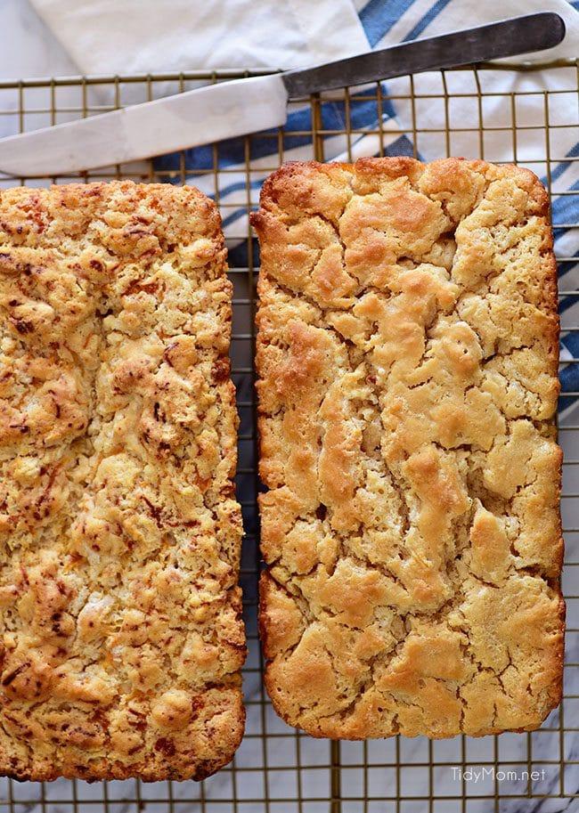 Hard Apple Cider Bread Loves on cooling rack