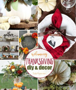 Welcoming DIY Thanksgiving Decor from wreaths to tablescapes and more! At TidyMom.net