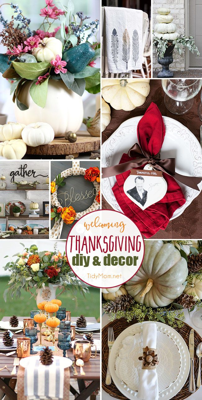Between carving the turkey and baking pies, decor might be the last thing on your mind. But these DIY Thanksgiving decor ideas are sure to make your holiday feast more festive! Get all the de