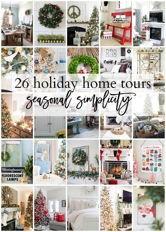 26 Holiday Home Tours to inspire you! Get all the seasonal simplicity details at TidyMom.net