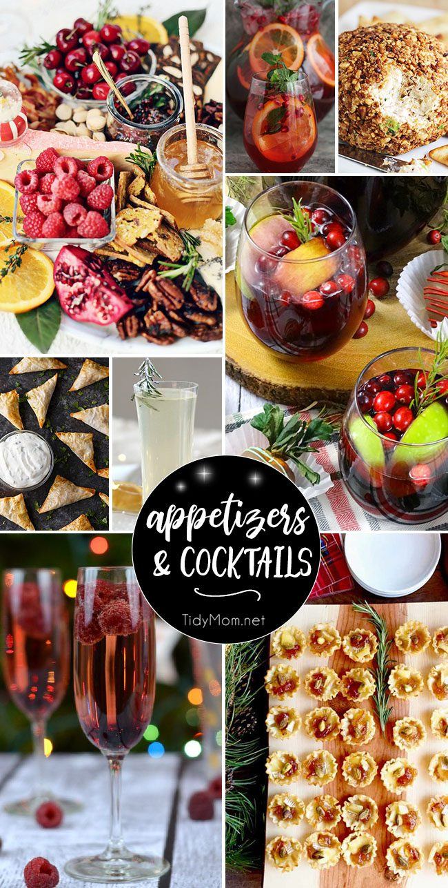 The holidays are filled with parties, and nothing makes a holiday party more memorable than delicious food and drinks! I've got you covered with the best Easy Party Appetizers and Cocktails recipes your guests will love. All you need is a festive playlist and some pretty napkins to get your entertaining on. Get all the recipes at TidyMom.net