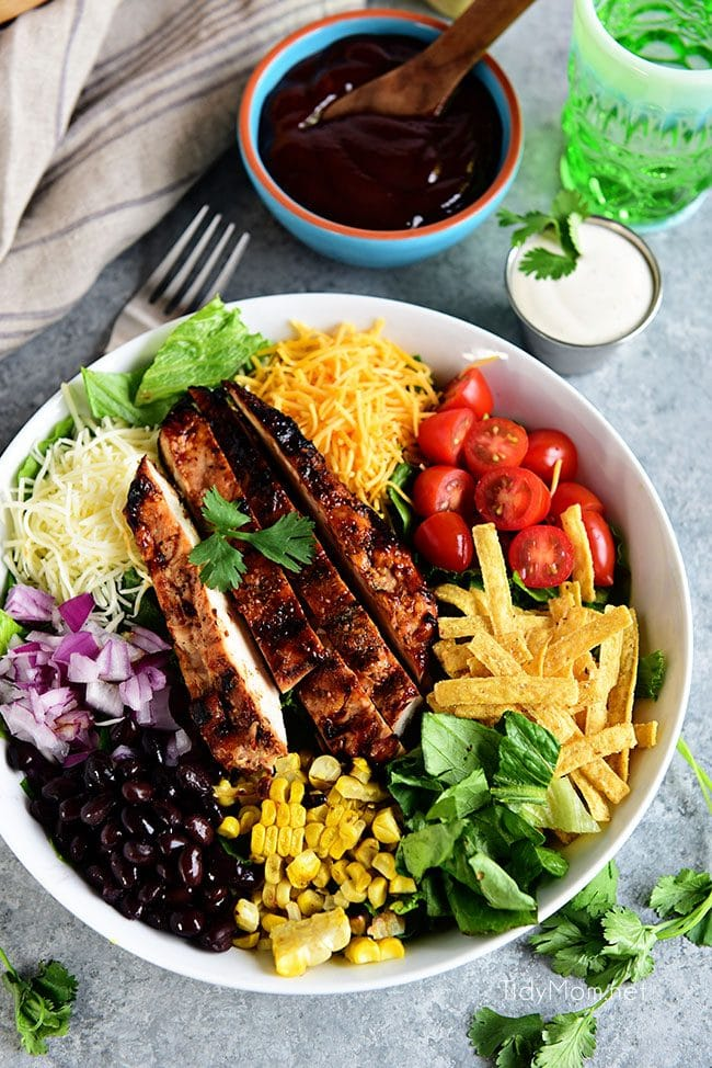 Ingredients for BBQ Chicken Salad