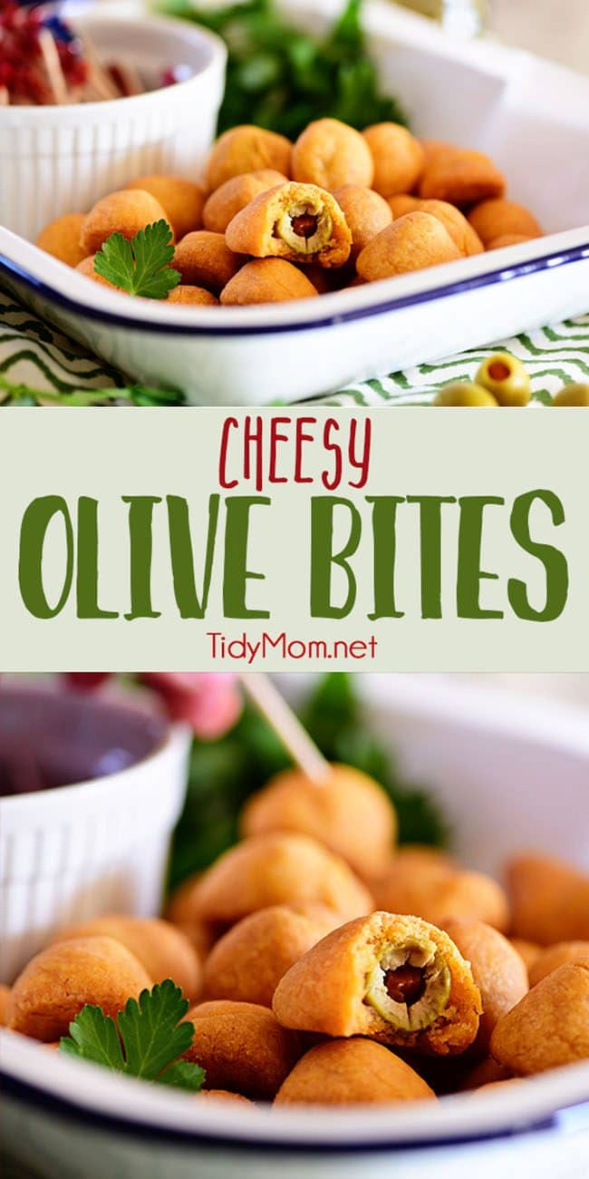 Cheesy Olive Bites