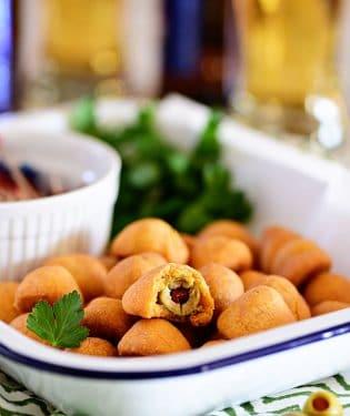Cheesy Olive Bites