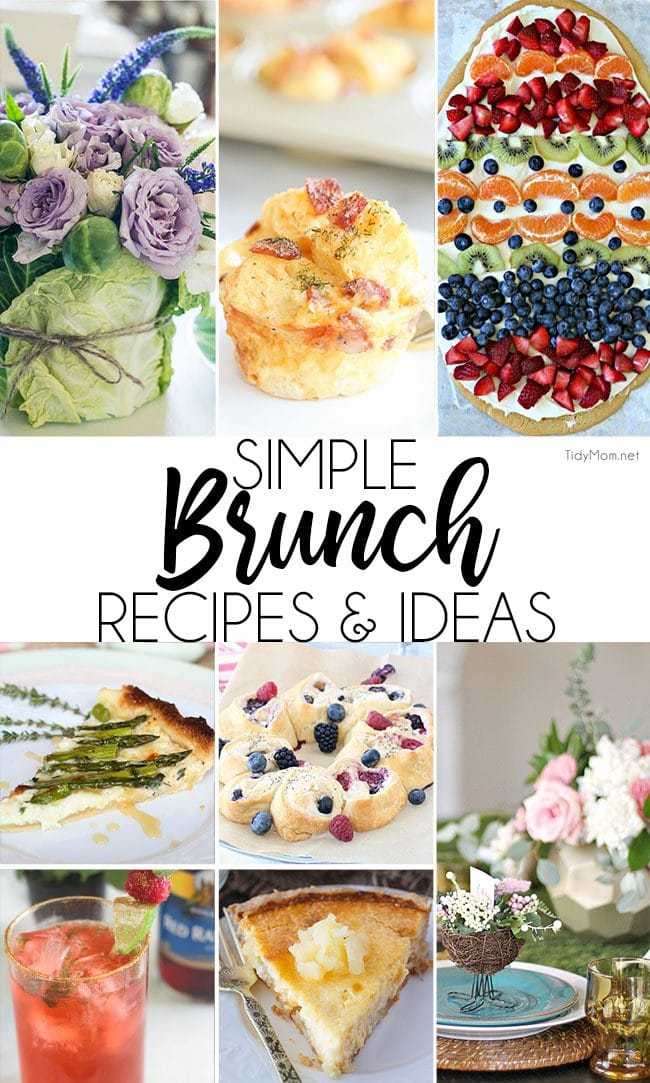 Simple brunch recipes and ideas for spring!
