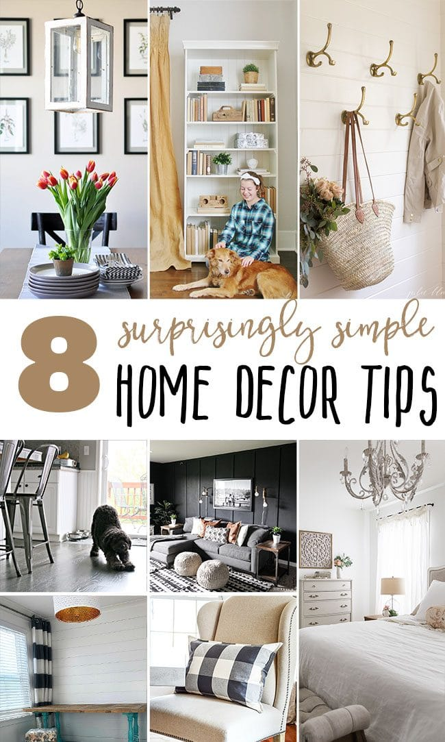 8 surprisingly simple home decor tips at TidyMom.net