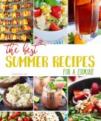 Warm temps have me give of visions of picnics and barbecues with tables lined with delicious food and drinks. Here are the BEST summer recipes for a cookout!