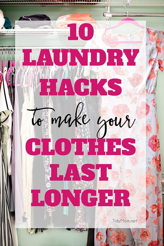 10 laundry hacks to make your clothes last longer, and look better. You'll learn everything about how to properly wash and take care of your clothes.