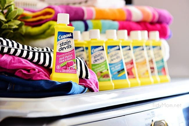 Laundry Hacks - specialty stain remover for specific stains use CarbonaⓇ Stain Devils