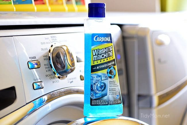 Laundry Hacks - use CarbonaⓇ Washing Machine Cleaner to absorb and remove dirt and odors. Keep your washer running it's best by protecting parts and rubber seal.