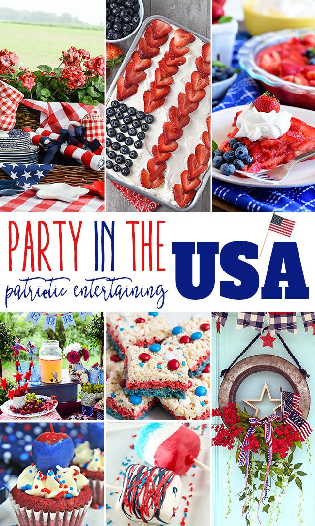 It's almost time for the 4th of July and you know what that means… From here on out every day is a Party in the USA! With these exceptional patriotic themed entertaining ideas and recipes your holiday weekend will be nothing short of a party our founders would be proud of. Find all the details at TidyMom.net #4thofJuly #july4 #memorialday #patriotic #redwhiteblue #entertaining #party