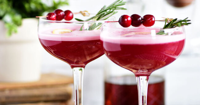 The fruity cherry and cranberry notes in this Cran-Cherry Rye Whiskey Sour Cocktail complement the spicy rye and tone down its bite.  An egg white in my cocktail? You betcha! Utterly the perfect cocktail for winter or any time of year.