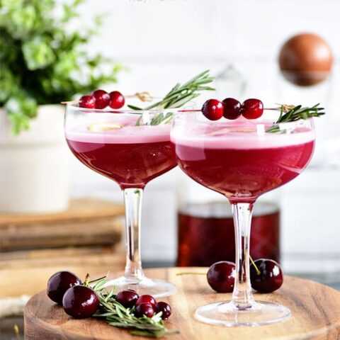 Cran-Cherry Whiskey Sour