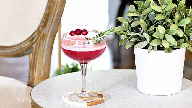 The fruity cherry and cranberry notes in this Cran-Cherry Rye Whiskey Sour Cocktail complement the spicy rye