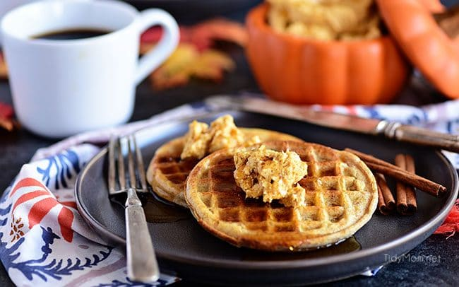 Pumpkin Spice Butter Spread has all your favorite fall spices whipped into a creamy fluffy spread for bread, waffles, pancakes and more. It has all your favorite fall spices + honey whipped into a creamy fluffy spread for bread, waffles, pancakes and more.