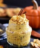 Pumpkin Spice Butter Spread has all your favorite fall spices + honey whipped into a creamy fluffy spread for bread, waffles, pancakes and more.