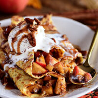 Apple Pie Dessert Crepes