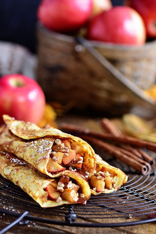 Apple Crepes are the perfect dessert crepes.