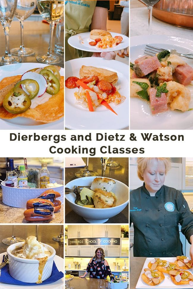 Recipes made at the Dietz & Watson cooking class at Dierbergs in St. Louis, MO