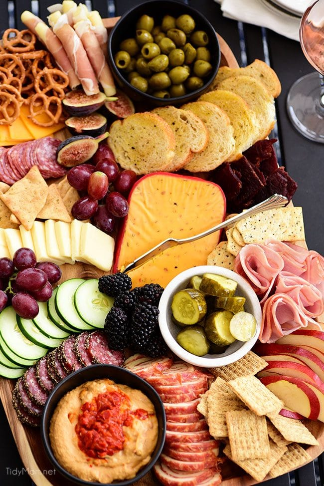 Easy and Elegant Meat and Cheese Board.