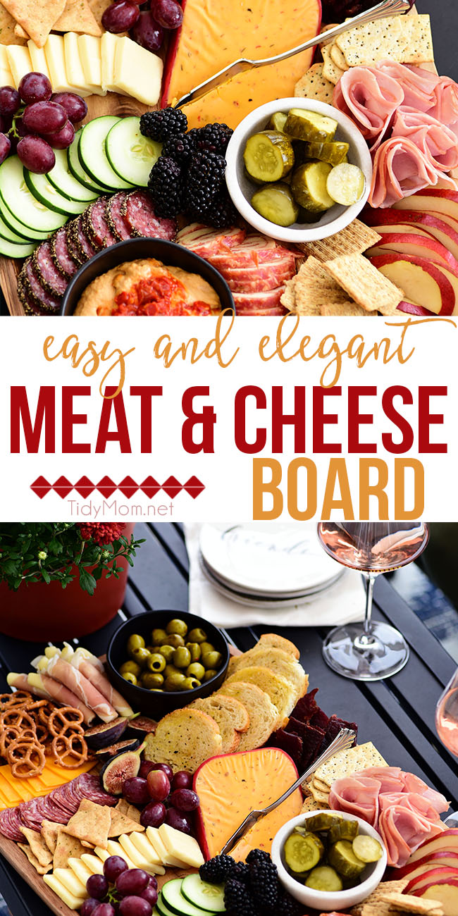 How to make an Easy and Elegant Meat and Cheese Board. Charcuterie boards are perfect for game day, holidays, parties or just any day of the week.