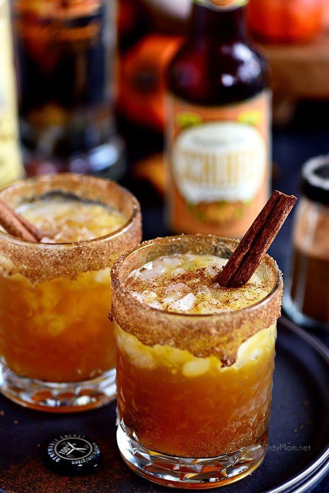 Smashing Pumpkin Cocktail in 2 glasses