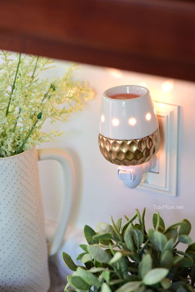 Make your home smell good with a plug-in wax warmer