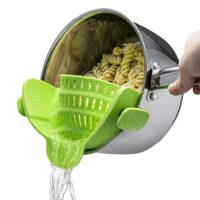 Clip On Silicone Colander, Fits all Pots and Bowls