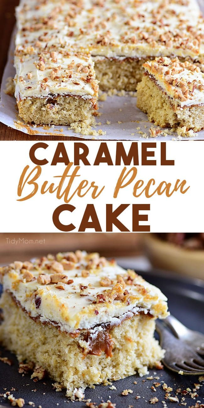 Caramel Butter Pecan Cake With Bourbon Frosting