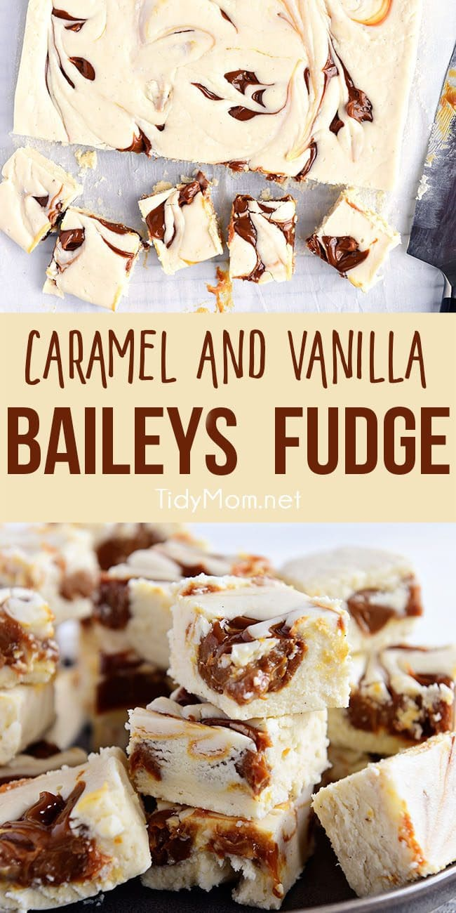 baileys fudge on a plate collage