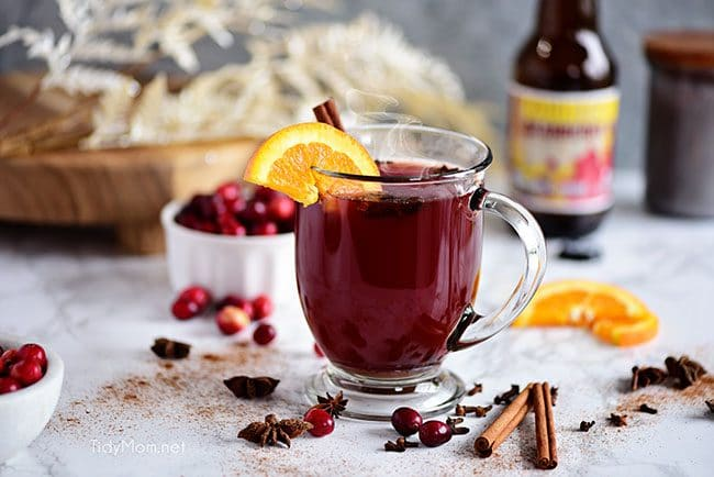 warm holiday Cranberry Mulled Ale