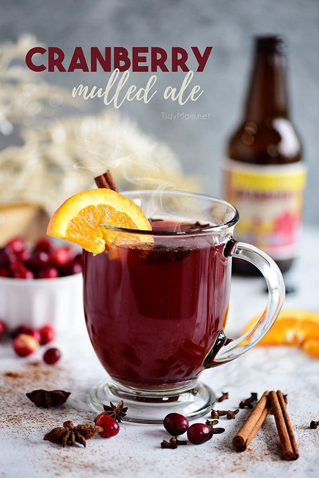 hot Cranberry Mulled Ale