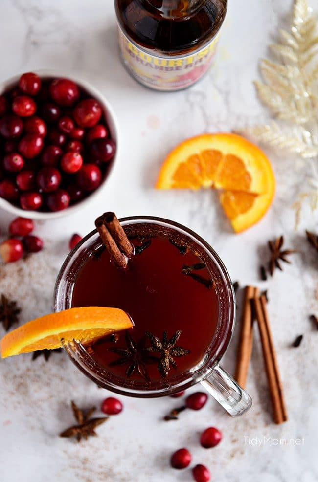 Cranberry Mulled Ale overhead