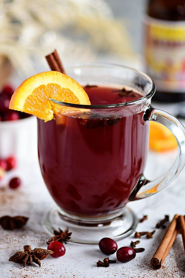 warm spicy Cranberry Mulled Ale