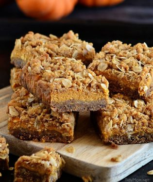 cut up pumpkin bars