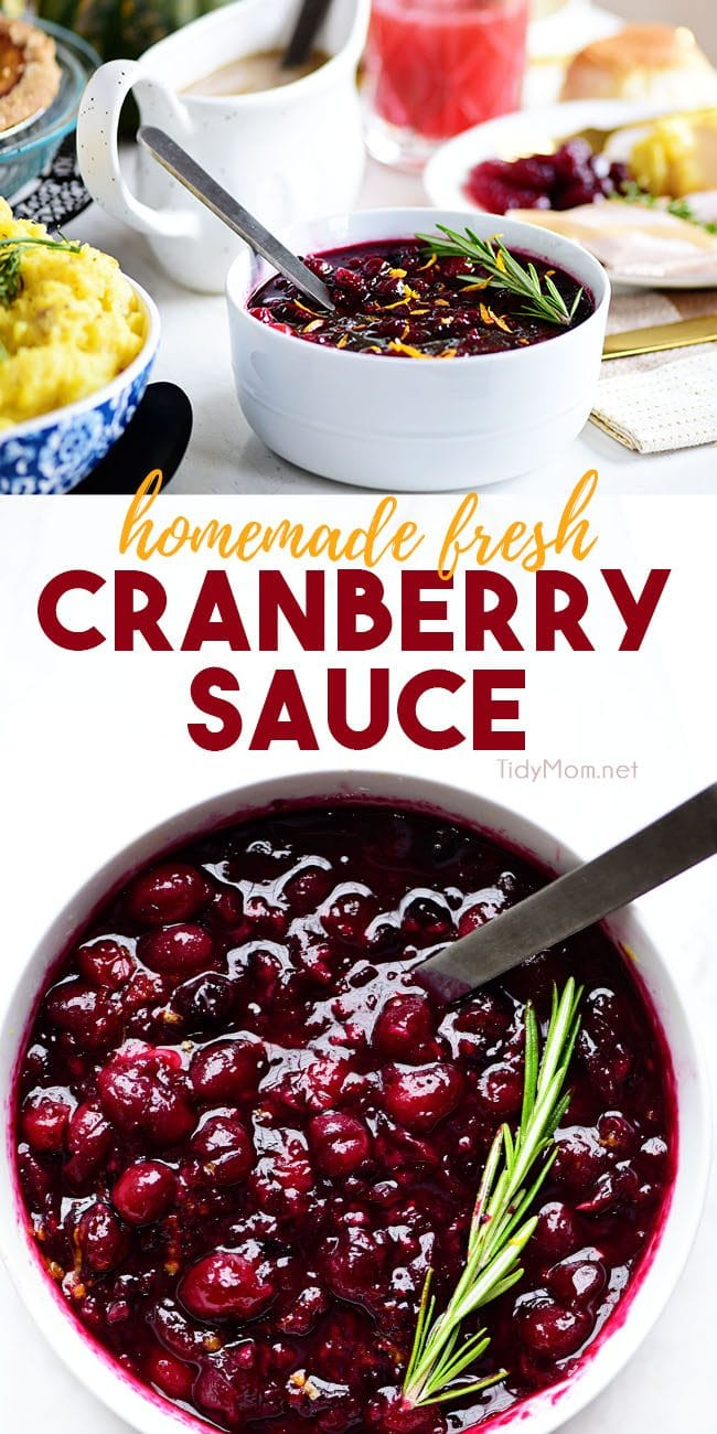 Fresh Cranberry Sauce collage image
