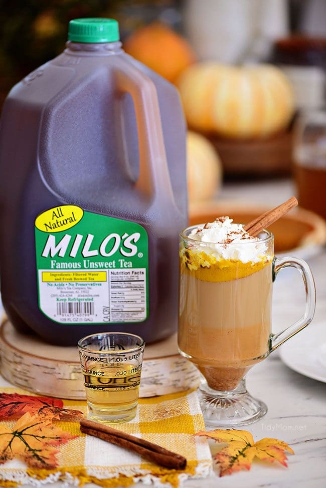 Pumpkin Spice Hot Buttered Rum with Milos tea