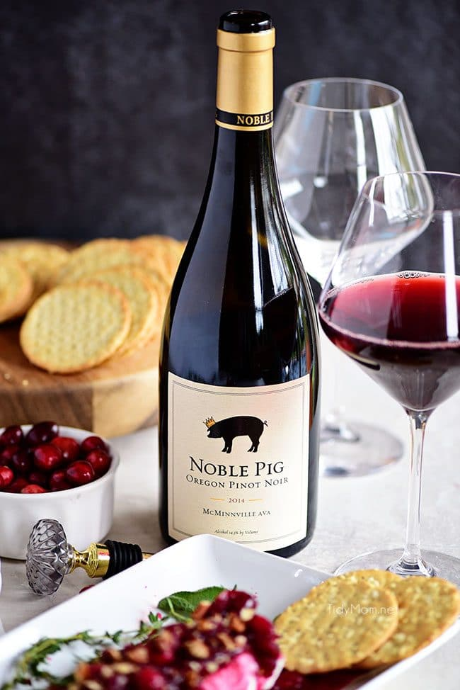 Pinot Noir for Red Wine Cranberry Cheese Log