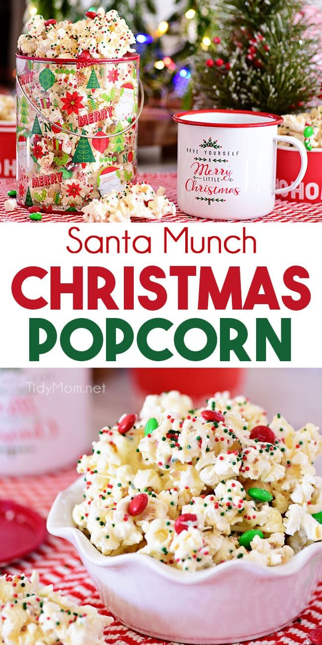 Santa Munch Christmas Popcorn photo collage